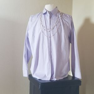 Jones New York Purple Button Down